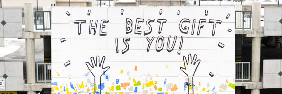 This is an image graphic of a wall mural created by Dallas Clayton, children's author and artist from Los Angeles.